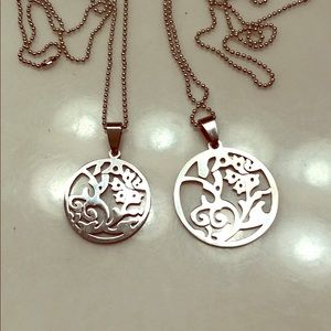 "Jewelry - 🌺Stainless Steel 26"" Popcorn Chain Lotus Charms"